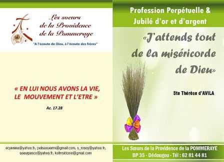 Jubilés et profession perpétuelle