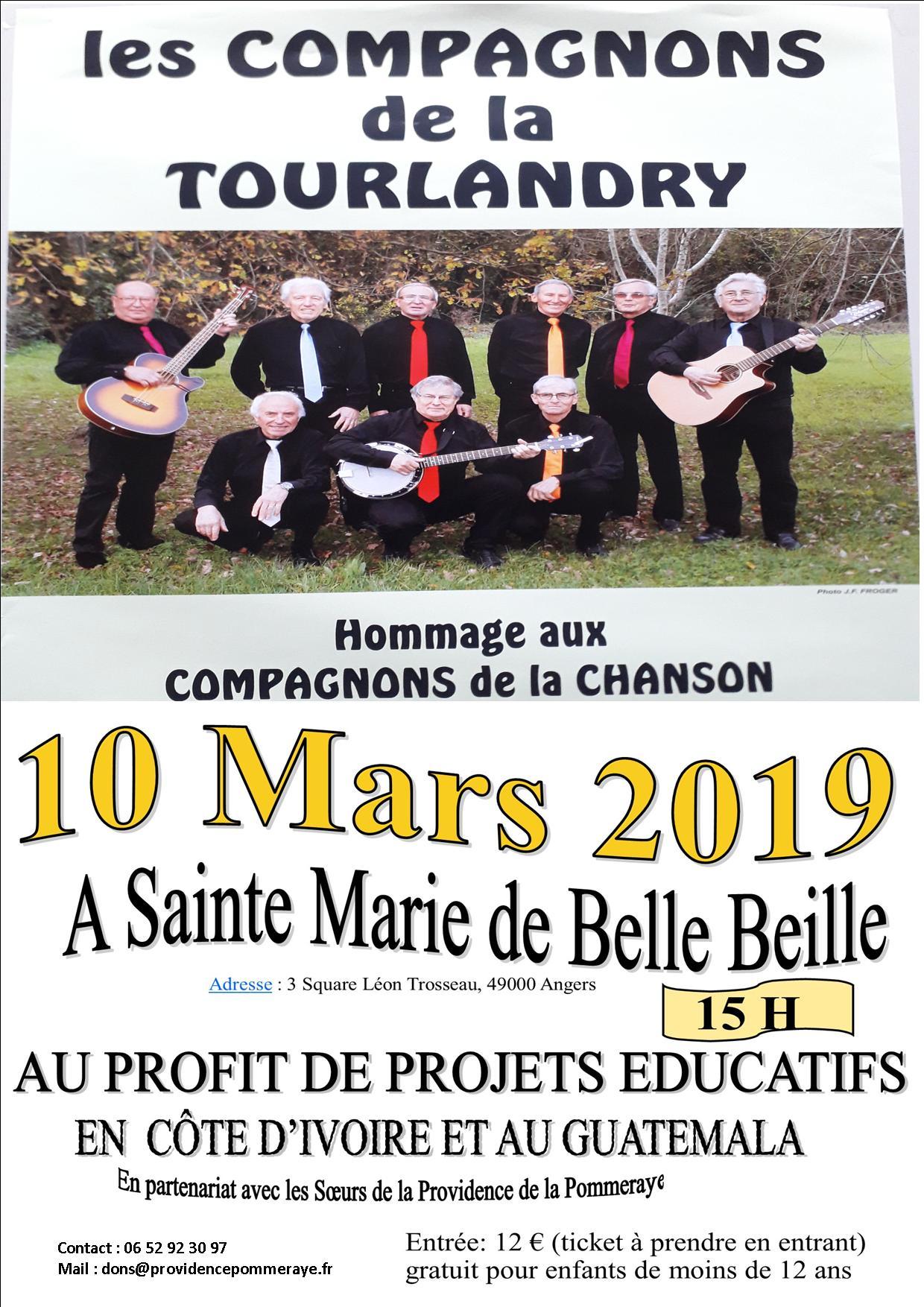 HOMMAGE AUX COMPAGNONS DE LA CHANSON A SAINTE MARIE DE BELLE BEILLE