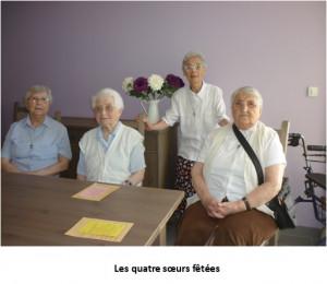 Les quatre soeurs fêtées