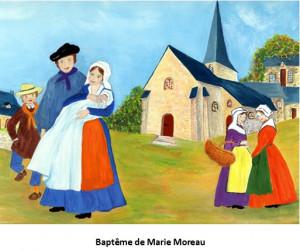 Baptême de Marie Moreau